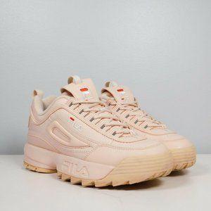 FILA DISRUPTOR II WHITE PINK Women Shoes Size 6